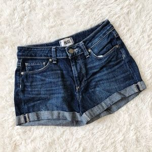 Paige Jimmy Jimmy Roll Up Denim Shorts